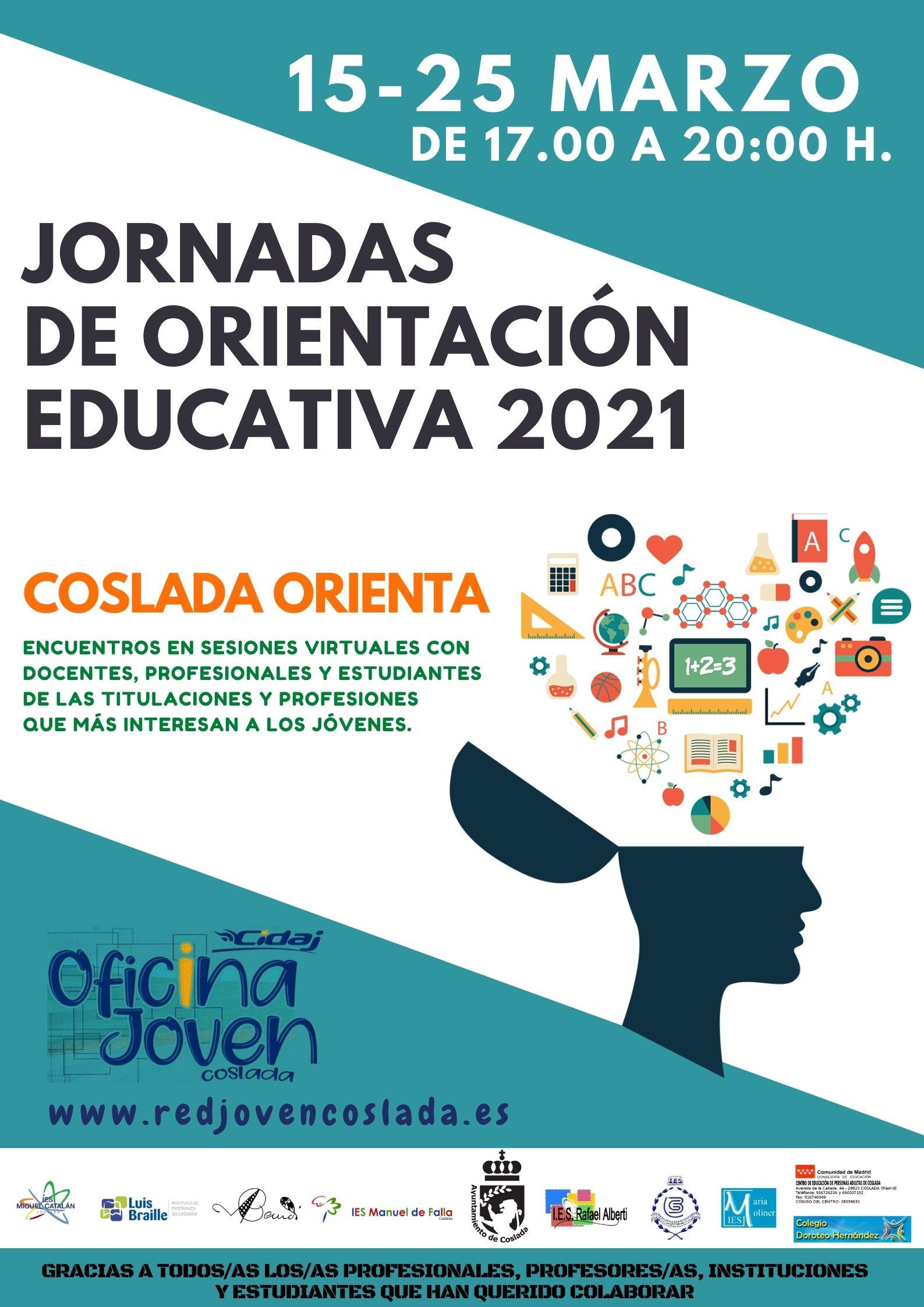 JORNADAS DE ORIENTACIÓN EDUCATIVA 2021