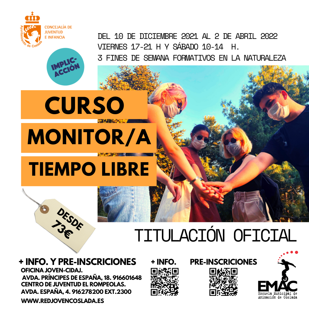 MONITORES/AS DE TIEMPO LIBRE